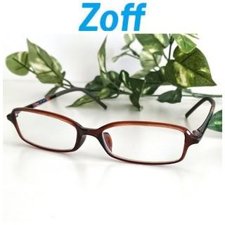 ゾフ(Zoff)の良品 Zoff ゾフ スリム 軽量 メガネ ブラウン べっ甲 レディース メンズ(サングラス/メガネ)