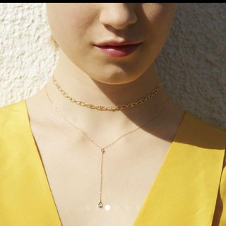 STAR JEWELRY - Star Jewerly キュービックジルコニアY字ネックレス