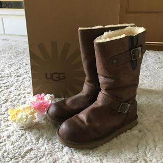 アグ(UGG)のふんわり暖かい♪アグレザームートンブーツ 26.0cm(ブーツ)