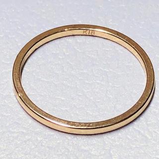 K18 シンプルデザインのピンキーリング(リング(指輪))