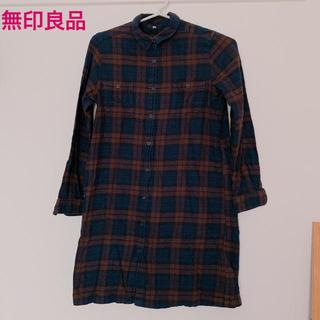 MUJI (無印良品) - 無印良品 ネルシャツ  シャツワンピース