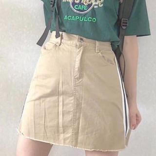 台形スカート  ベージュ(ミニスカート)