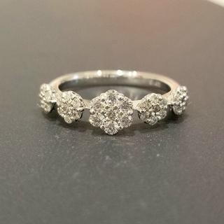 PonteVecchio - k18 WG  ダイヤ 0.5ct フラワーデザイン リング ダイヤモンド 指輪