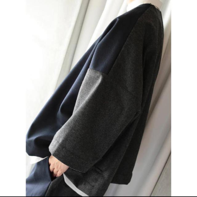 Dulcamara(ドゥルカマラ)のフラノスクエアスリーブPO(NAVY/CHARCOAL GRAY) メンズのトップス(Tシャツ/カットソー(七分/長袖))の商品写真