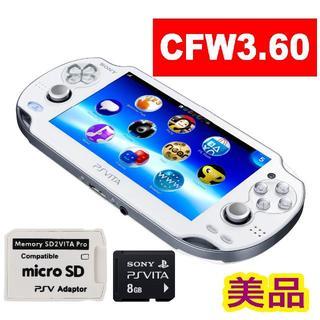 PlayStation Vita - ★CFW3.60★PSVITA PS VITA PCH-1000 ホワイト★