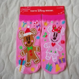Disney - ディズニーリゾート クリスマス限定品  レディースサイズ靴下