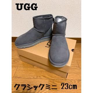 アグ(UGG)のUGG クラシックミニⅡ グレーUS6(23cm) 新品(ブーツ)