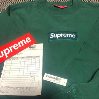 Supreme -  18aw supreme boxlogo crewneck darkgreen