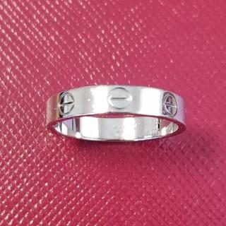 カルティエ(Cartier)のカルティエ☆ミニラブリング☆18Kホワイトゴールド(リング(指輪))