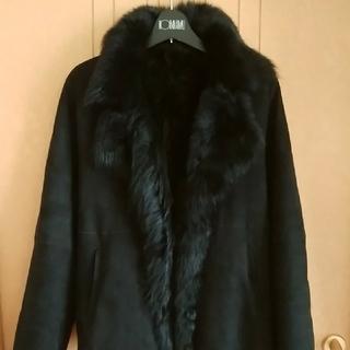 DKNY - DKNY黒羊革ムートン サイズ6