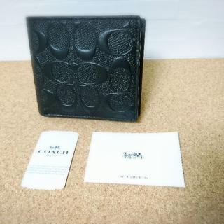 COACH - COACH コーチ 折り財布 ブラック 黒 F75363 BLK