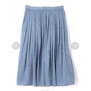 PROPORTION BODY DRESSING - マロンサテンプリーツスカート