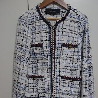 ZARA - ZARA ツイード ジャケット 白 ブルー