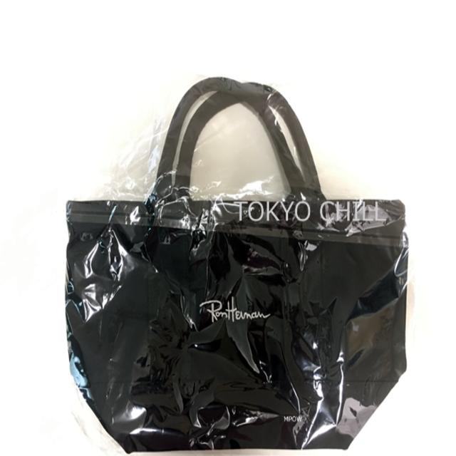 Ron Herman(ロンハーマン)のロンハーマントートバッグミニ ブラック他全3色 刺繍ロゴユニセックスキャンバス レディースのバッグ(トートバッグ)の商品写真