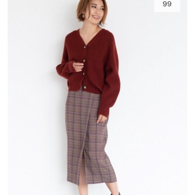 GU(ジーユー)のチェックナローミディスカート GU レディースのスカート(ひざ丈スカート)の商品写真