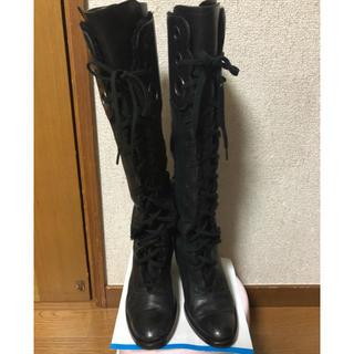 モードエジャコモ(Mode et Jacomo)のmanu レースアップ ロングブーツ (ブーツ)
