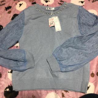 しまむら - 袖チュールセーター