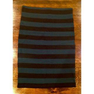 メゾンドリーファー(Maison de Reefur)の梨花 さん 着用!メゾン ド リーファー ニット ボーダー スカート 38(ひざ丈スカート)