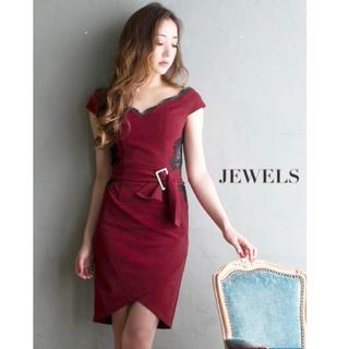 ジュエルズ(JEWELS)の【専門出品】jewels ジュエルズ   ドレス キャバ キャバクラ ボルドー(ナイトドレス)