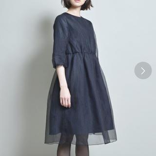OKIRAKU - OKIRAKU ◆ オーガンジー レイヤードワンピース ドレス ネイビー