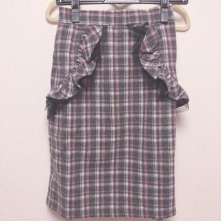 トッコ(tocco)のチェックミドルスカート(ひざ丈スカート)
