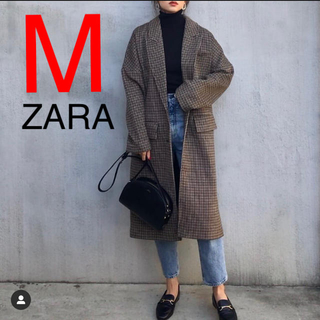 ZARA - ZARA  チェック柄 チェック柄オーバーサイズコート コート