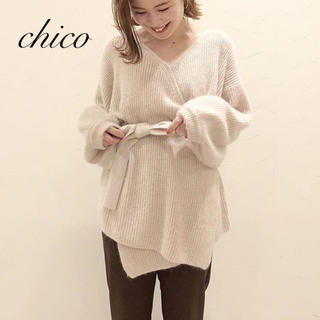who's who Chico - 新品❁フーズフーチコ アンゴラニットカーディガン