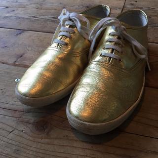 COMME des GARCONS - COMME des GARCONS コムデギャルソン ゴールド スニーカー 靴