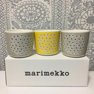 marimekko - マリメッコ  marimmeko プケッティ ラテマグ 3個