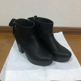 heather - Heather ヘザー ブーツ ショートブーツ 黒