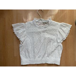 ZARA - zara 刺繍ブラウス フリルシャツ