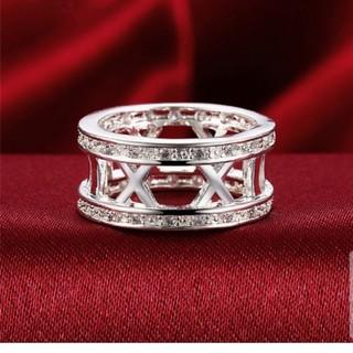 ダイヤモンドCZエックスデザインサークルパヴェリング(リング(指輪))