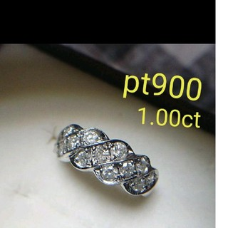 プラチナ900 1.00ct ダイヤモンドリング(リング(指輪))