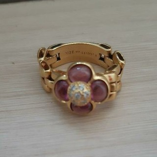 K18 アメジスト&ダイヤモンドリング(リング(指輪))