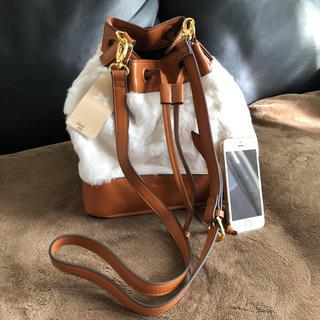 ウィルセレクション(WILLSELECTION)の新品 ウィルセレクション 巾着型ショルダーバッグ 茶色ポシェット(ショルダーバッグ)