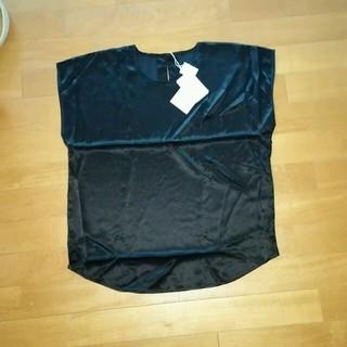 ワコール(Wacoal)のWacoal シルクカットソー黒(カットソー(半袖/袖なし))