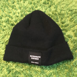 エイチアンドエム(H&M)のメンズ 帽子 キャップ 黒(ニット帽/ビーニー)