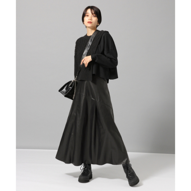JEANASIS(ジーナシス)のジーナシス ヌバックライクキリカエスカート レディースのスカート(ロングスカート)の商品写真