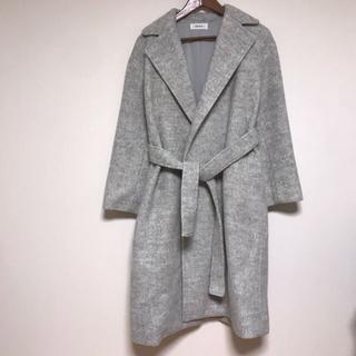 ミラオーウェン(Mila Owen)のMila Owen ミラオーウェン ガウン ロング コート グレー 灰色 ウール(ロングコート)