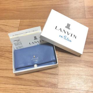 LANVIN en Bleu - 【新品未使用】 LANVIN en Bleu シャペル パール付き名刺入れ