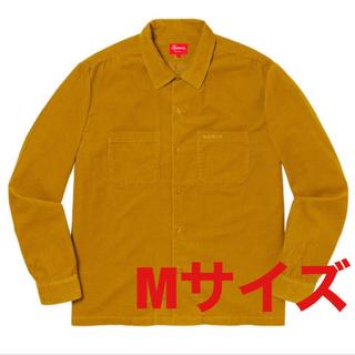 Supreme - Supreme corduroy shirt gold M