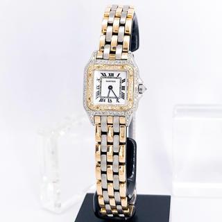 Cartier - 【仕上済】カルティエ パンテール コンビ 3ロウ ダイヤ レディース 腕時計