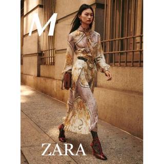 ZARA - 新品 入手困難 ZARA M COLLECTION シリーズ ロングワンピース