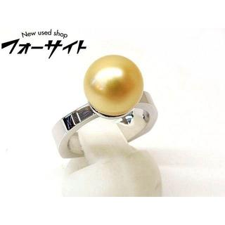 10.5号 クリストファー フェラン☆ゴールデンパール 真珠 18K リング(リング(指輪))