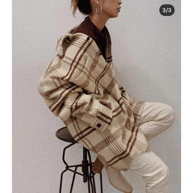 Ungrid(アングリッド)の今季☆ungridシャギールーズチェックシャツ新品未使用 レディースのトップス(シャツ/ブラウス(長袖/七分))の商品写真