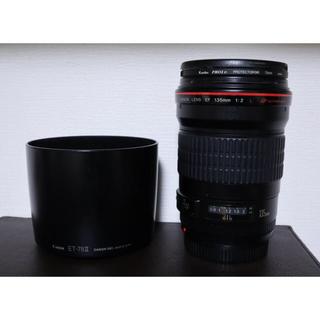 Canon - canon ef135mm f2l usm 単焦点レンズ キャノン