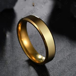 ゴールドチタンリング☆7号(リング(指輪))
