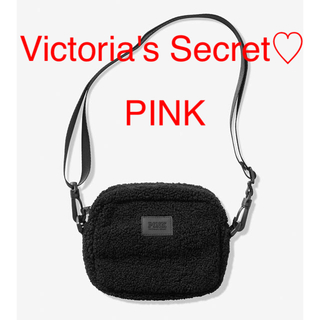 Victoria's Secret - 新品 PINK 黒 ショルダーバッグ ボディバッグ 斜めがけ