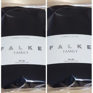 イエナ(IENA)の新品未使用 falke ファルケ 38-40 ファミリータイツ 2足セット(タイツ/ストッキング)