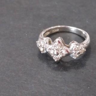 最終お値下げ更にPT900ダイヤ0.50刻印ありダイヤ綺麗です鑑別書つきリング(リング(指輪))